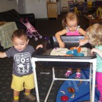 18 Month old class sensory exploration